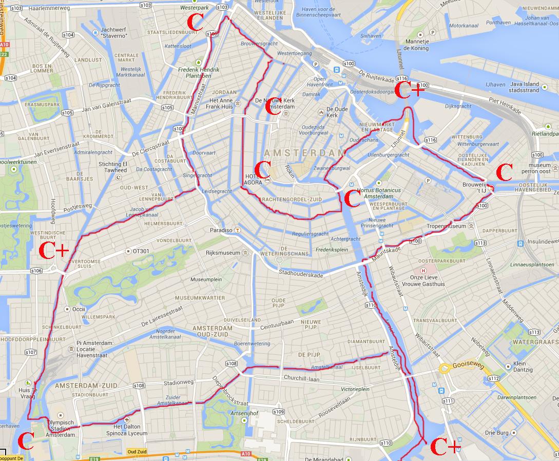 Route Amsterdam